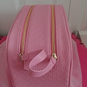 Jeffree Star Bags - Jeffree Star Double Zip Pink Makeup Bag